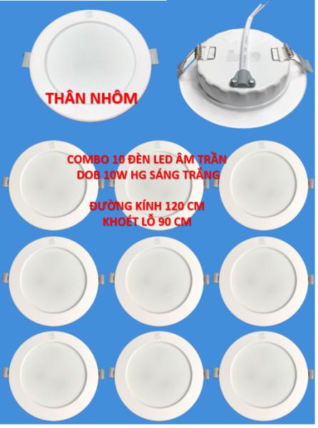 Conbo 10 đèn led âm trần thân nhôm DOB 10w sáng trắng HG