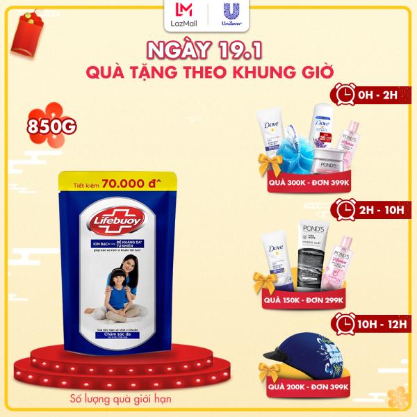 Sữa tắm sạch khuẩn Lifebuoy Chăm Sóc Da Túi 850G giá rẻ
