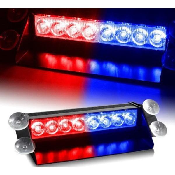 Đèn LED Police Xanh Đỏ 8 Bóng