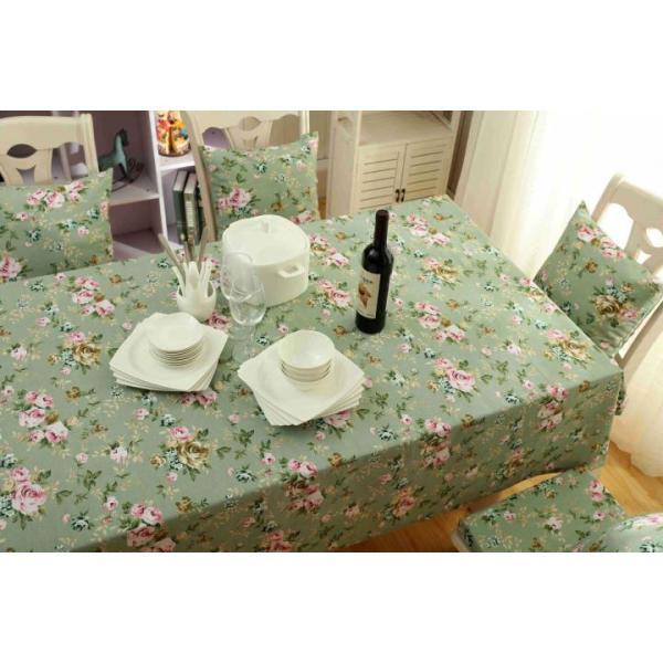 Khăn trải bàn Mary Decor - Hoa xanh vintage - Đủ kích thước
