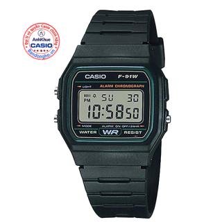 Đồng hồ nam nữ Casio F-91 Đồng hồ Casio chính hãng Anh Khuê đồng hồ dây nhựa huyền thoại thumbnail
