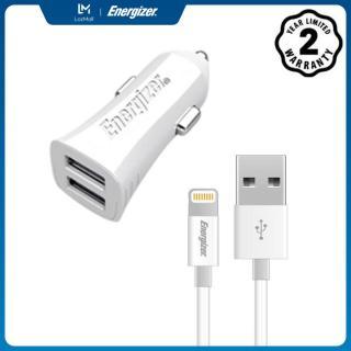 Sạc Energizer UL dùng cho Ô tô Lightning USB 3.4A 2 cổng màu trắng - DCA2CULI3 thumbnail