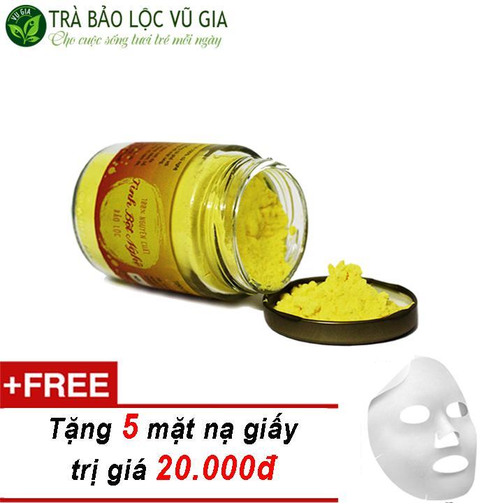 Tinh Bột Nghệ Nguyên Chất Bảo Lộc VG Farm  (100gr/hũ) + Tặng 5 Mặt Nạ Giấy Đắp Mặt ( trị mụn trứng cá )_[ Đã được kiểm nghiệm y tế ] nhập khẩu