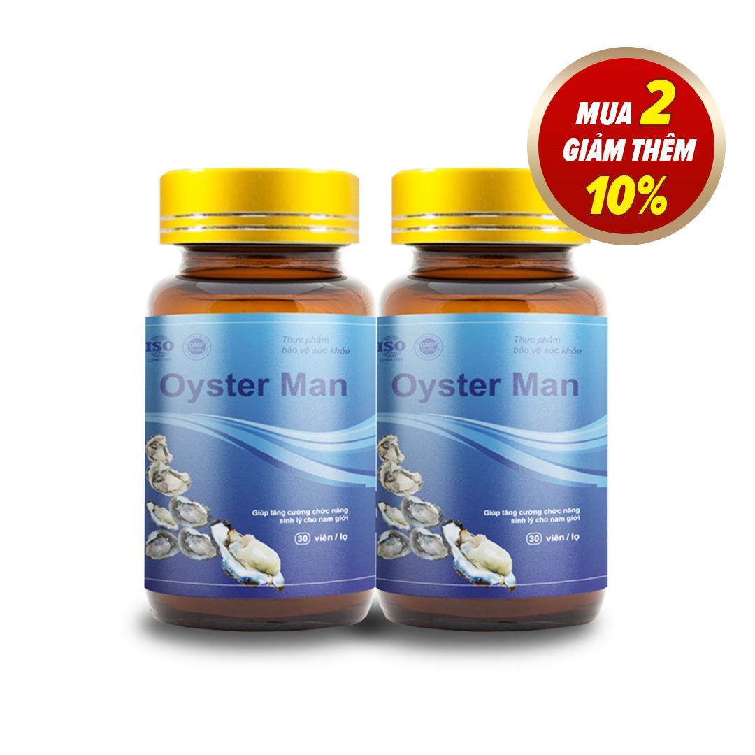 [Combo 2] Viên Uống Oyster Man Tăng Cường Sinh Lý Nam Giới (1 hộp 30 viên) cao cấp