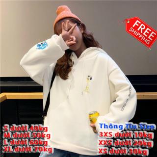 [FREESHIP] Áo sweater nữ, nam dáng rộng tay dài có mũ chất nỉ lót bông ấm phong cách mới in thân thêu tay đẹp BL thumbnail