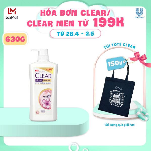 Dầu Gội Clear Hoa Anh Đào Sạch Gàu (630g) giá rẻ