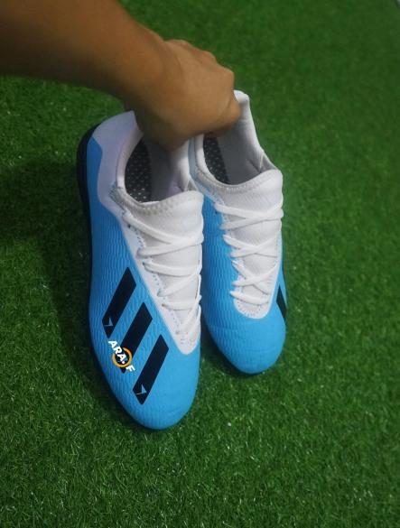 Giày đá bóng cỏ nhân tạo X19.1 cổ thun + Khâu full đế giá rẻ