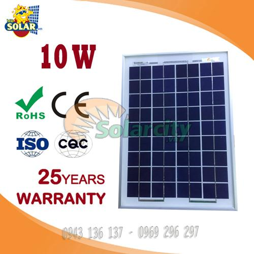 Pin năng lượng mặt trời poly 10w Solarcity