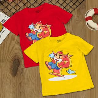 Combo 2 Áo tết cho bé trai, bé gái | (6kg - 16kg) | đồ tết cho bé trai, bé gái 2021| quần áo trẻ em tết Tân Sửu | áo thun tết | TTLM