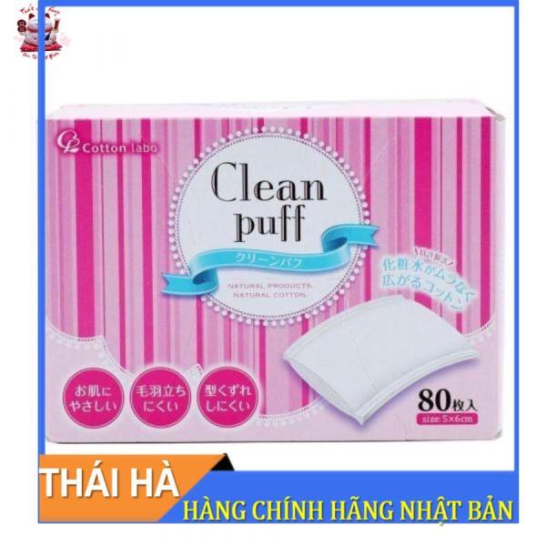 Bông Tẩy Trang Clean Puff Cao Cấp Số 1 Nhật Bản Hộp 80 miếng