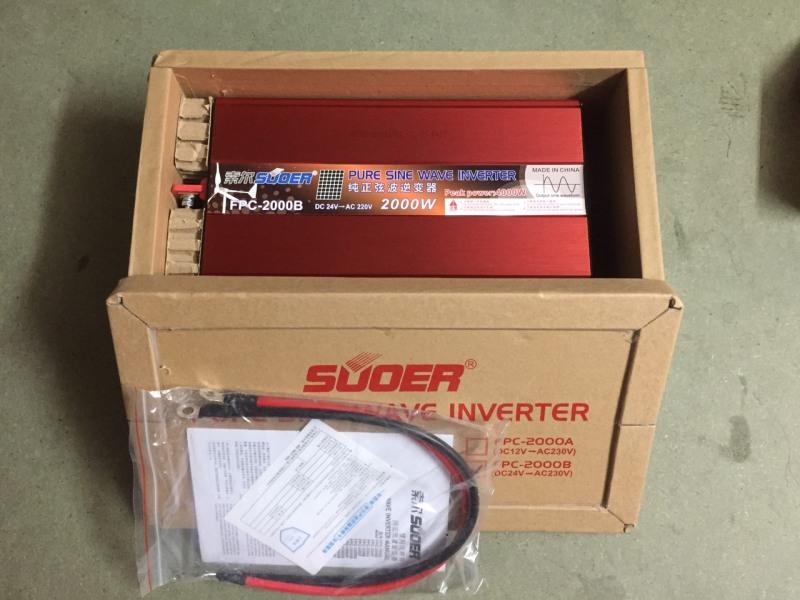 Bảng giá Bộ đổi điện Inverter 24V lên 220V sin chuẩn 2000VA FPC-2000B Phong Vũ