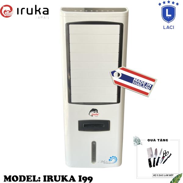 Bảng giá Quạt hơi nước làm lạnh không khí Iruka I99 Made In Thái Lan | Công suất 200W | Màn hình cảm ứng có remote điều khiển | BH 12 Tháng Chính Hãng | Tặng Bộ Dao Làm Bếp 5 Món