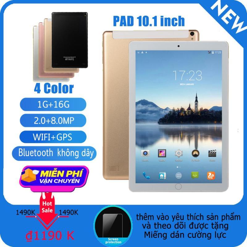 Máy tính bảng Android 8.0 Octa Core 10 inch RAM 1GB RAM 16GB ROM 5MP WIFI A-GPS 3G LTE 2.5D Kính cường lực IPS 1280 * 800