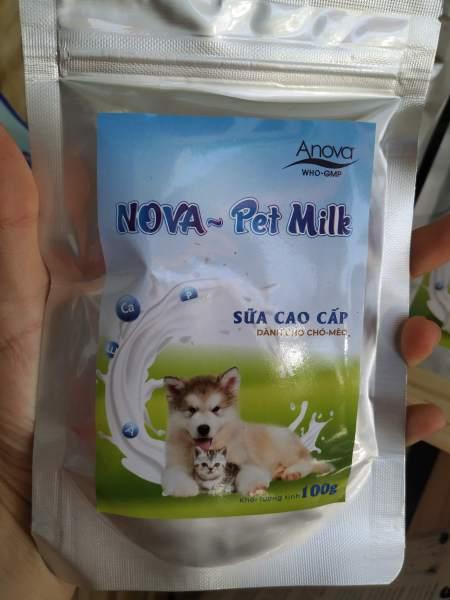 Sữa dinh dưỡng cung cấp năng lượng như sữa mẹ cho chó mèo 100g