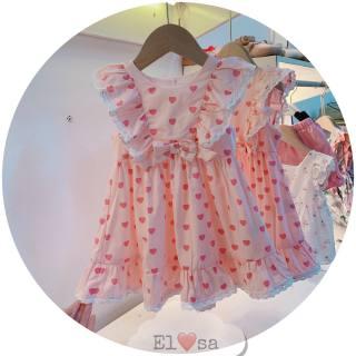 Mẫu váy hè 2021 - VÁY TIM CÁNH TIÊN HỒNG - CT-tim-hồng