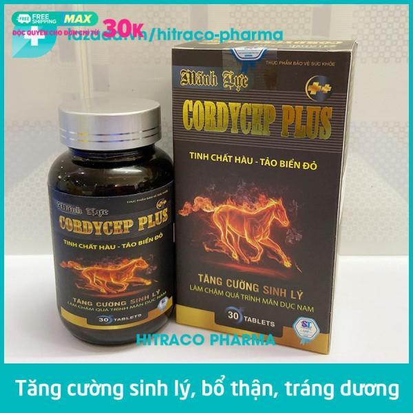 Tăng cường sinh lý nam Tinh chất Hàu - Tảo biển đỏ Cordycep Plus bổ thận tráng dương - Hộp 30 viên nhập khẩu