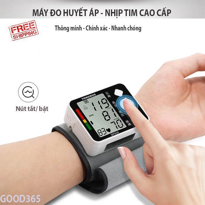 Máy đo huyết áp tốt Máy Đo Huyết Áp Cổ Tay Thông Minh Món Quà Tuyệt Vời Cho Người Cao Tuổi Và Cao Huyết Áp,BH 1 năm. Mã SP 2 (giảm -50%) bán chạy