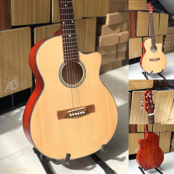 Đàn guitar acoustic tập chơi SVA1 - Tặng bao, sách, phím alice, dây sơ cua số 1 và 2, bảo hành 6 tháng