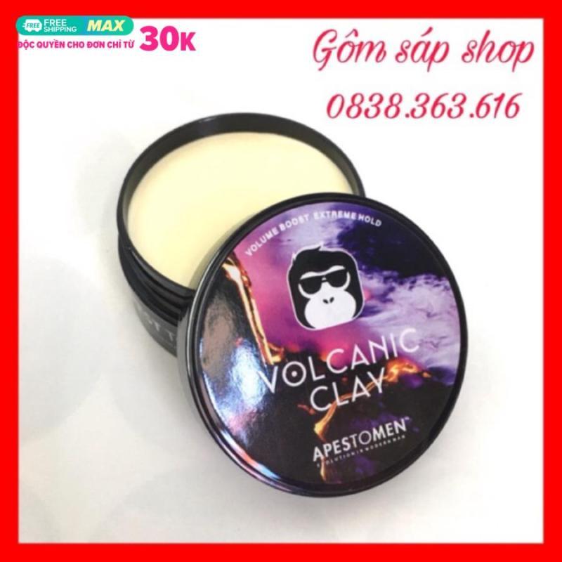 Sáp vuốt tóc Volcalic Clay chuẩn dành cho mọi loại tóc (bản đen), là clay nên hơi cứng nhưng khi xoa ra tay lại thấy dễ dàng, vuốt lên tóc có thể hơi bị rít nhưng ăn tóc rất tốt giá rẻ
