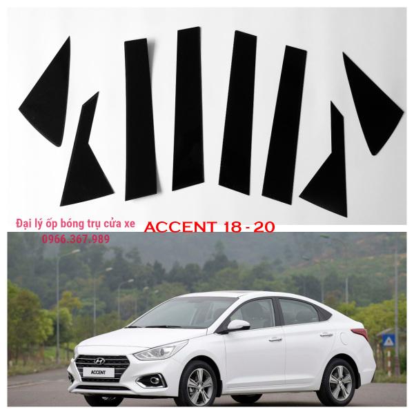 Ốp bóng trụ cửa xe ô tô Hyundai Accent