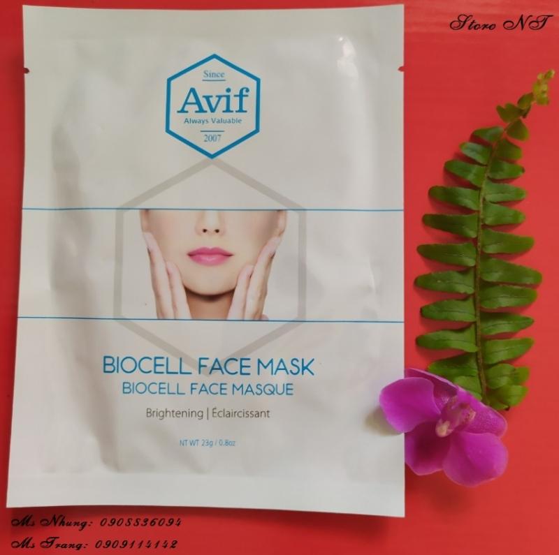 001.MẶT NẠ AVIF BIO CELL WHITENING FACE MASK