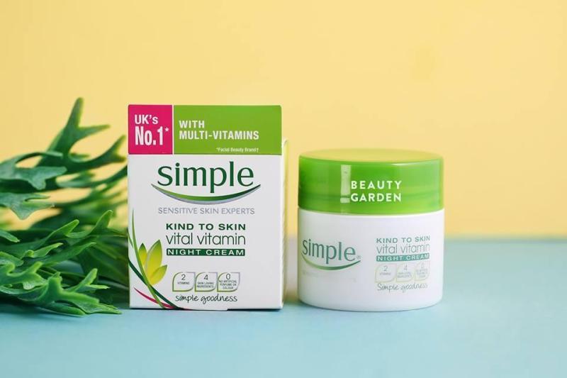 Kem Dưỡng Ban Đêm - Simple Kind To Skin Vital Vitamin Night - hủ 50ml - xuất xứ Anh Quốc cao cấp