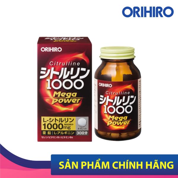 Viên Uống Bổ Sung Năng Lượng Citrulline 1000Mg Orihiro 240 Viên Giúp Giảm Lượng Chất Béo, Thúc Đẩy Tăng Trưởng Và Chuyển Hóa Năng Lượng cao cấp