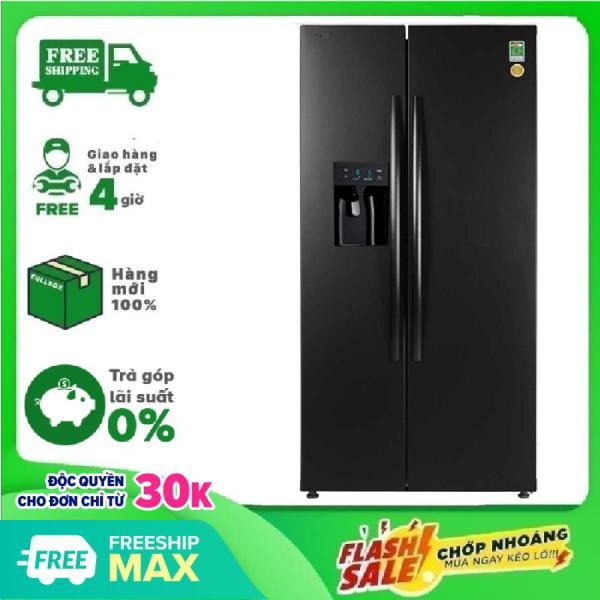 TRẢ GÓP 0% - Tủ lạnh Toshiba GR-RS637WE-PMV(06)-MG 493 lít Inverter kết hợp thông minh công nghệ khử mùi diệt khuẩn và tiết kiệm điện năng - Bảo hành 12 tháng