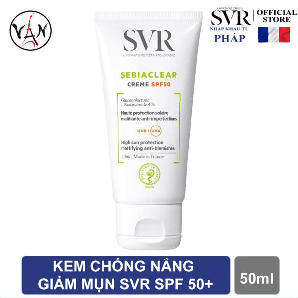 Kem chống nắng giảm mụn SVR cho da dầu nhờn Sebiaclear Creme Spf 50+ 50ml