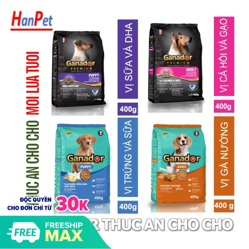 HP- (5 loại)  GANADOR Thức ăn chó dạng hạt cao cấp - thức ăn khô cho chó giá rẻ