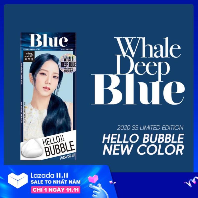 Thuốc Nhuộm Tóc Hello Bubble Foam - Chính hãng Mise En Scene mẫu BlackPink - Màu xanh giá rẻ