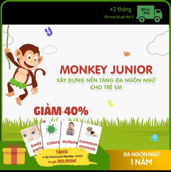 Giá Monkey Junior 1 năm - Phần mềm đa ngôn ngữ cho trẻ em