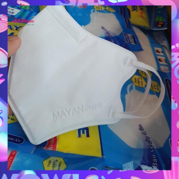 Khẩu Trang Mayan 3D Mask Medi PM2.5 Người lớn (5 chiếc / túi) màu trắng tiêu chuẩn Mỹ