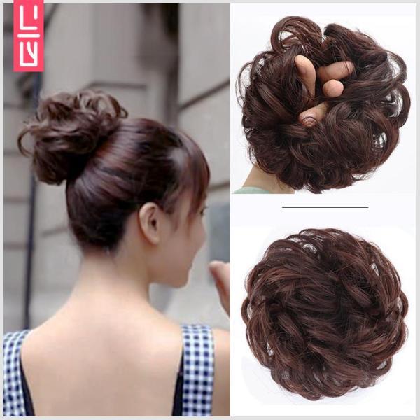 Tóc búi giả xù kiểu dây buộc tóc (Lựa chọn màu sắc sau khi đặt hàng) tốt nhất