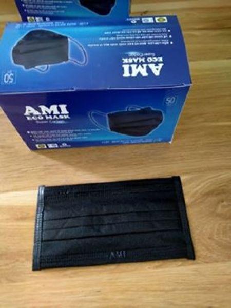 Khẩu trang y 4 lớp tế AMI 4 kháng khuẩn màu đen ( hộp 50 chiếc)
