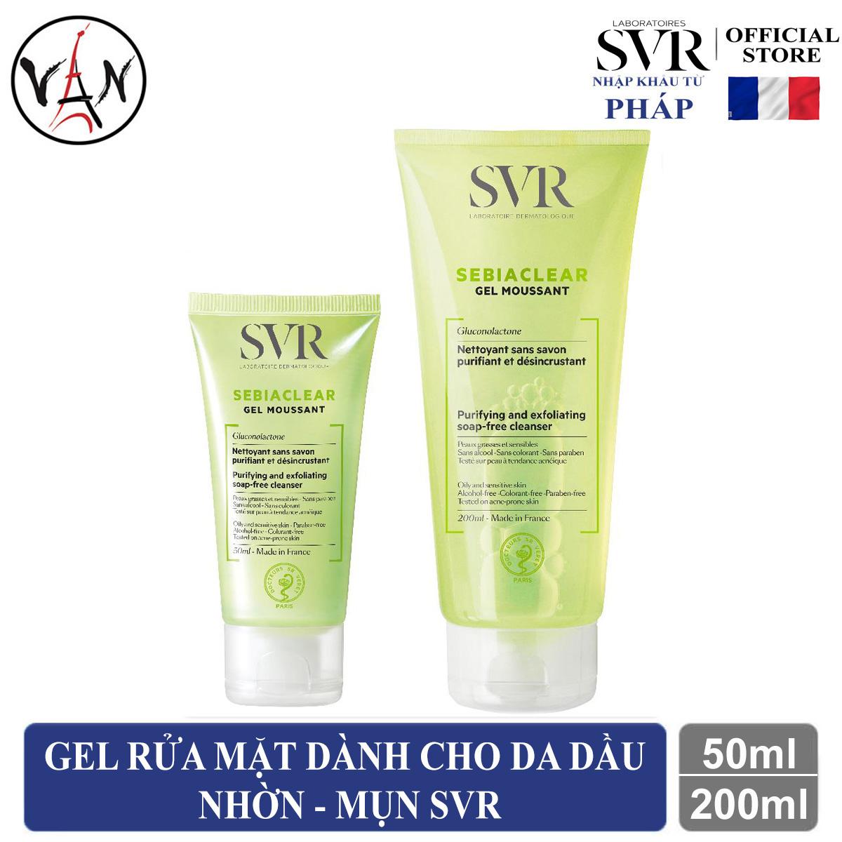 Gel rửa mặt SVR dành cho da dầu nhờn mụn