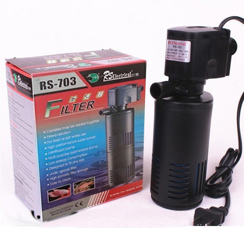 Máy lọc nước RS 703 Vừa bơm lọc vừa sục khí oxi Có Quả lọc Chìm hồ cá vi sinh chuyên dụng dành cho bể cá cảnh gia đình