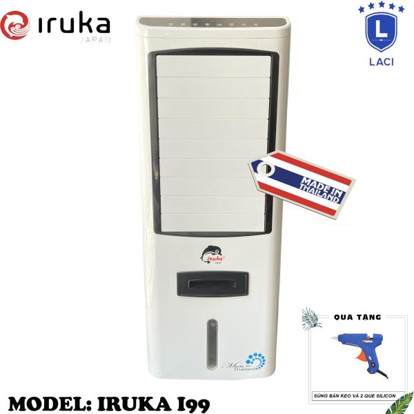 Bảng giá Quạt hơi nước làm lạnh không khí Iruka I99 Made In Thái Lan | Công suất 200W | Màn hình cảm ứng có remote điều khiển | BH 12 Tháng Chính Hãng | Tặng Máy Bắn Keo Kèm 2 Que Silicon