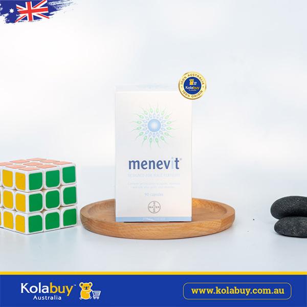 Viên uống hỗ trợ sinh sản cho nam Menevit Male Fertility Supplement 90 viên (Được bán tại Kolabuy Australia) nhập khẩu