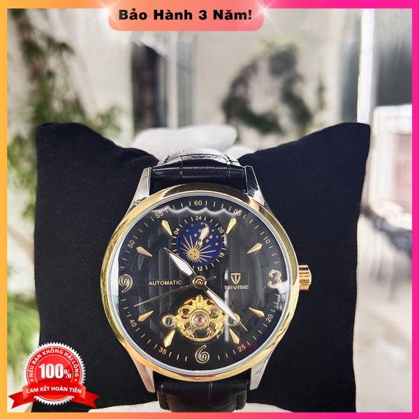Đồng hồ nam Tevise T820S Automatic, full box và thẻ bảo hành 3 năm, dây da, chống xước chống nước bán chạy