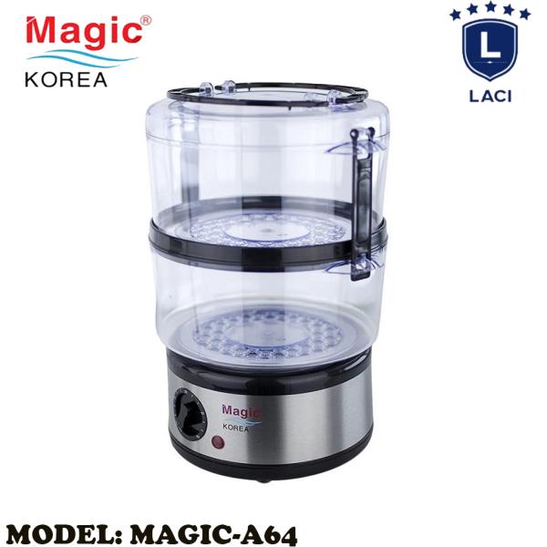 Máy Hấp Thực Phẩm Magic Korea A64 | Dung Tích Chứa 5L | Thiết Kế 2 Tầng Riêng Biệt | Công Suất 500W | Vừa Con Gà 1.2kg | Bảo Hành Chính Hãng 12 Tháng