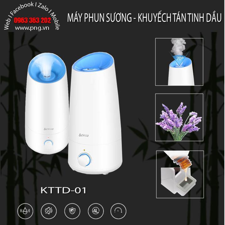 Máy phun sương, khuyếch tán tinh dầu dung tích lớn 4L dùng cho hộ gia đình KTTD-01