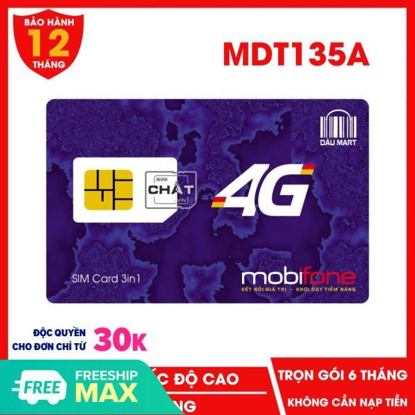 SIM 4G MDT135A Mobifone Dùng Trọn Gói Hoàn Toàn Miễn Phí DATA 4G dành cho điện thoại và máy tính bảng + USB 3G 4G Bộ Phát Wifi - Dâu Mart