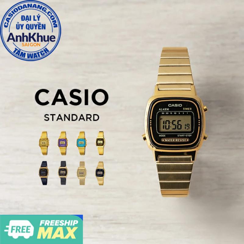 Đồng hồ nữ dây kim loại Casio Standard chính hãng Anh Khuê LA670 Series