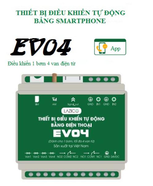 EV04 - Điều khiển từ xa 1 bơm 4 van từ
