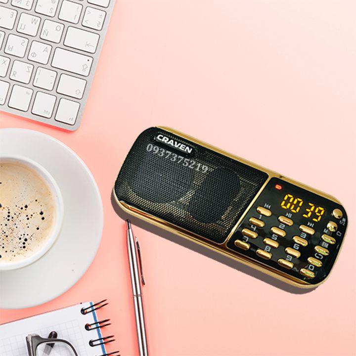 Coupon Khuyến Mãi [TẶNG SẠC] Loa Craven CR-853 3 PIN Nghe Rất Lâu Dùng Thẻ Nhớ Hoặc USB Kèm Thẻ Nhớ Đủ Dung Lượng
