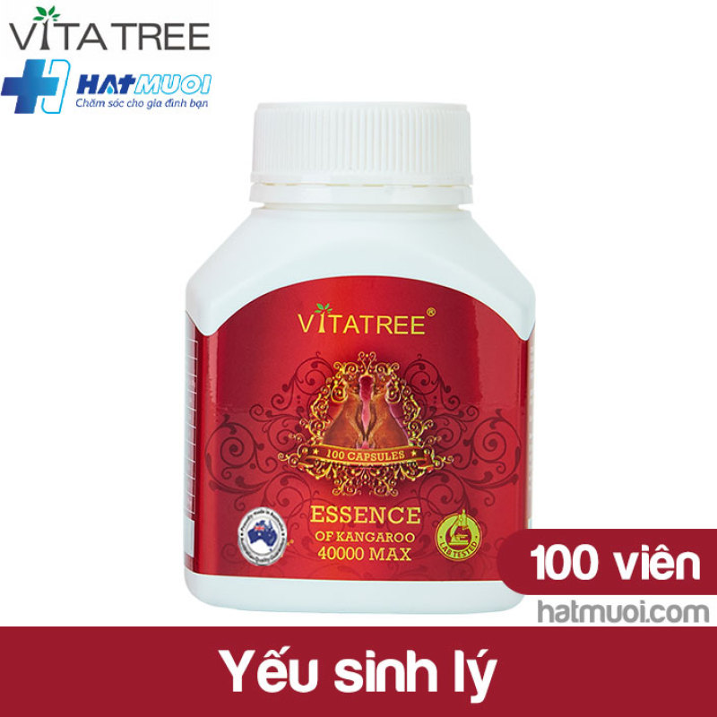 Vitatree Essence of Kangaroo 40000MAX – viên uống sinh lý nam, yếu sinh lý, xuất tinh sớm, rối loạn cương dương