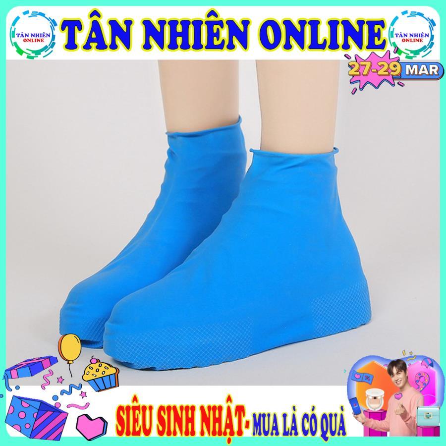 Bọc giày đi mưa silicon loại dày chống thấm chống ướt hiệu quả