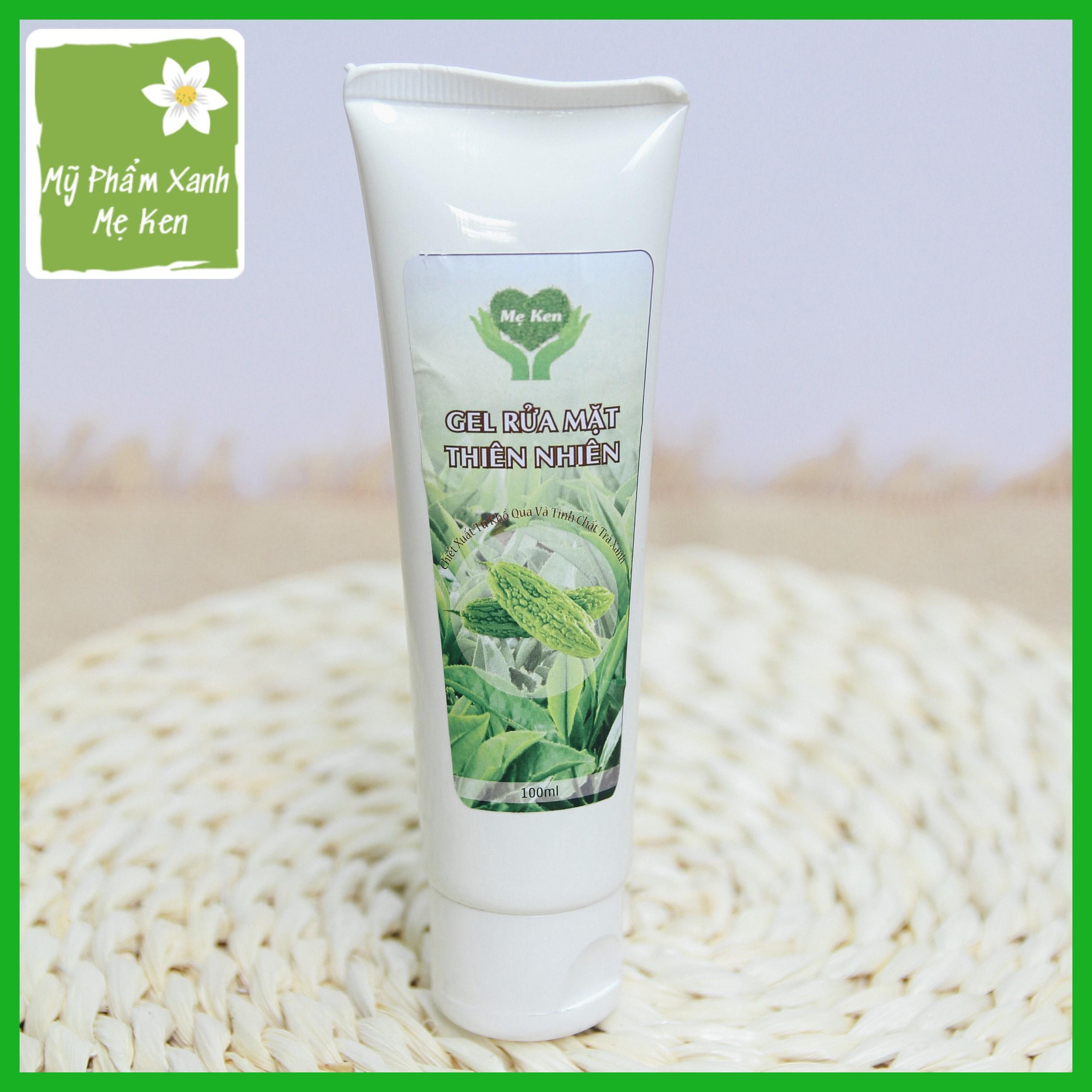 Sửa rửa mặt thảo mộc Mẹ Ken Làm sạch da, ngăn ngừa mụn, trị mụn, kiểm soát nhờn, se khít lỗ chân lông, da trắng sáng, mịn màng, dùng được cho da mụn và da nhạy cảm -  Tuýt 100ml cao cấp