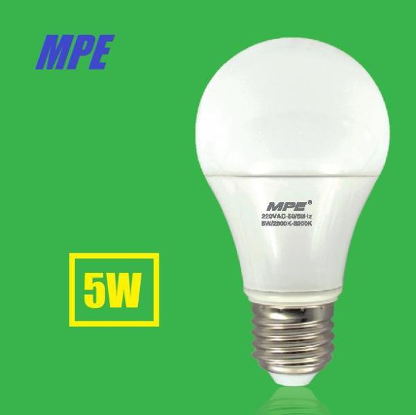 Bóng đèn LED Bulb tròn 5W MPE Ánh Sáng trắng